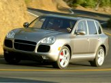 Porsche Cayenne Turbo 2004 1600x1200 wallpaper Front angle view