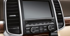 Jet Black Metallic Porsche Cayenne Turbo 2011 3000x1560 wallpaper Interior Screen