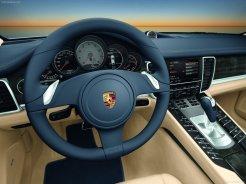 Porsche Panamera 2010 1600x1200 wallpaper Steering wheel