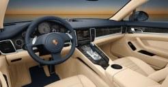 Aqua Blue Metallic Porsche Panamera 4S 2011 wallpaper Interior