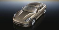 Cognac Metallic Porsche Panamera 4 2011 wallpaper Front angle top view