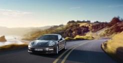 Carbon Grey Metallic Porsche Panamera S 2011 wallpaper Front angle view