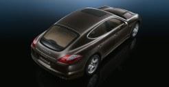 Carbon Grey Metallic Porsche Panamera S 2011 wallpaper Rear angle top view
