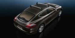 Carbon Grey Metallic Porsche Panamera S 2011 wallpaper Rear Side angle top view