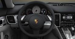 Cristal Green Metallic Porsche Panamera S Hybrid 2011 wallpaper Interior Steering wheel