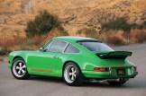 2011 Singer Racing Green Porsche 911 Side angle view