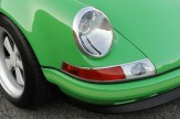 2011 Singer Racing Green Porsche 911 Front angle Lights