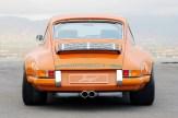 Singer Racing Orange Porsche 911 Rear view