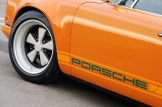 Singer Racing Orange Porsche 911 Side view