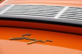 Singer Racing Orange Porsche 911 Rear engine grill