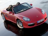 2009 Guards Red Porsche Boxster S wallpaper Front angle Top view