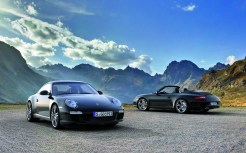 2011 Black Porsche 911 Black Edition Wallpaper Front angle view