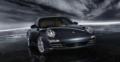 2011 Black Porsche 911 Carrera 4 Wallpaper Front angle view