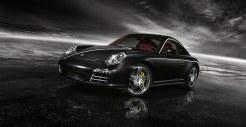 2011 Black Porsche 911 Targa 4S Wallpaper Front angle side view
