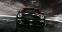 2011 Black Porsche 911 Targa 4S Wallpaper Front view