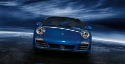 2011 Blue Porsche 911 Carrera 4S Cabriolet Wallpaper Front view