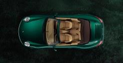 2011 Green Porsche 911 Carrera S Cabriolet Wallpaper Top view