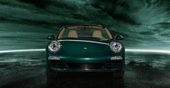 2011 Green Porsche 911 Carrera S Cabriolet Wallpaper Front view