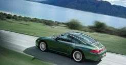 2011 Green Porsche 911 Targa 4 Wallpaper Side angle view