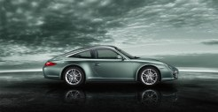 2011 Green Porsche 911 Targa 4 Wallpaper Side view
