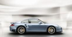 2011 Ice Blue Porsche 911 Turbo S Wallpaper Side view