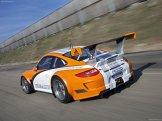 2011 Orange Porsche 911 GT3 R Hybrid 2.0 Rear angle view