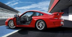 2011 Red Porsche 911 GT3 Wallpaper Side view Doors open