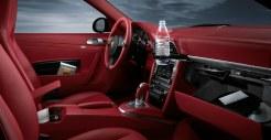 2011 Silver Porsche 911 Carrera Wallpaper Red interior