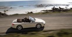 2011 White Porsche 911 Carrera Cabriolet Wallpaper Side top view
