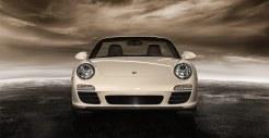 2011 White Porsche 911 Carrera Cabriolet Wallpaper Front view