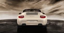 2011 White Porsche 911 Carrera Cabriolet Wallpaper Rear view