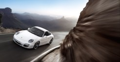 2011 White Porsche 911 Carrera GTS Wallpaper Front angle view