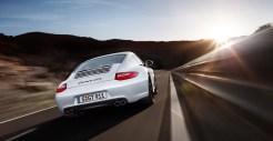 2011 White Porsche 911 Carrera GTS Wallpaper Rear view