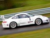2011 White Porsche 911 GT3 Cup Wallpaper Side view