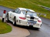 2011 White Porsche 911 GT3 Cup Wallpaper Rear angle view