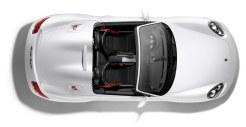 2011 Carrara White Porsche Boxster Spyder wallpaper Top view