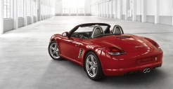 2011 Guards Red Porsche Boxster S wallpaper Rear angle side view