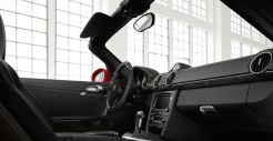 2011 Guards Red Porsche Boxster S wallpaper Interior