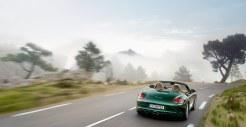 2011 Porsche Racing Green Metallic Boxster Rear view