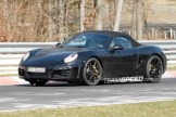 2012 Porsche 981 Boxster Spy shots Front angle side view