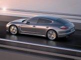 2012 Porsche Panamera Turbo S Wallaper Side angle rear view