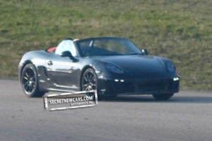 2012 Porsche Boxster (981) spy shots Front angle view