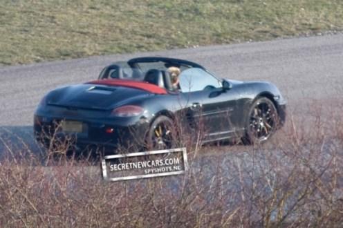 2012 Porsche Boxster (981) spy shots Rear angle view