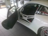 Bellet Racing 2011 white Porsche 911 GT3 Cup Car Side angle view