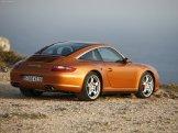 2007 Gold Porsche 911 Targa 4S Wallpaper Rear angle Side view