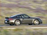 2007 Grey Porsche 911 Turbo Wallpaper Side view