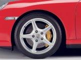 2007 Red Porsche 911 Targa 4 Wallpaper Side view Wheel