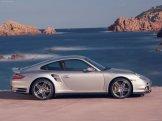 2007 Silver Porsche 911 Turbo Wallpaper Side view