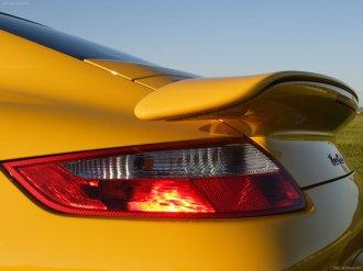 2007 Yellow Porsche 911 Turbo Wallpaper Rear view Light