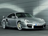 2008 Silver Porsche 911 GT2 Wallpaper Front angle side view